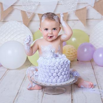 Fotógrafa de cumpleaños de bebés en Madrid