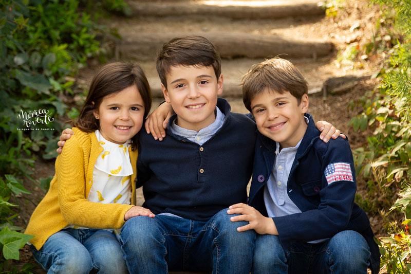 Sesión de fotos de niños y familias en madrid