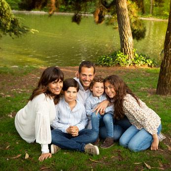 Sesión de fotos de niños y familias en Madrid imágenes