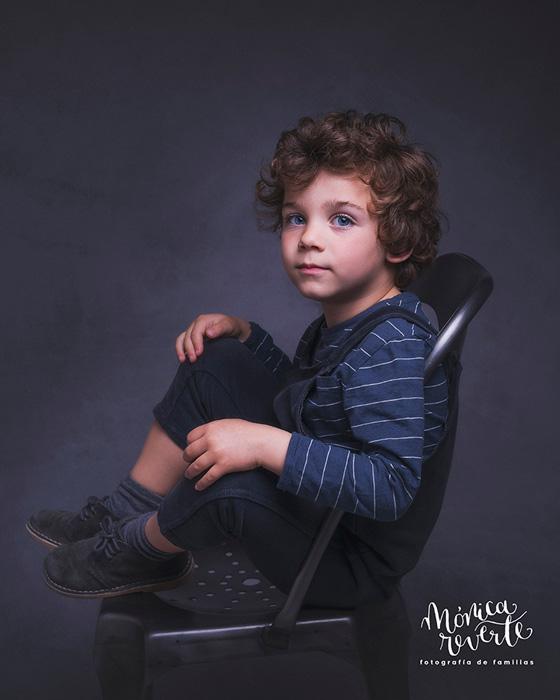 Sesión de fotos retrato infantil fine art en madrid