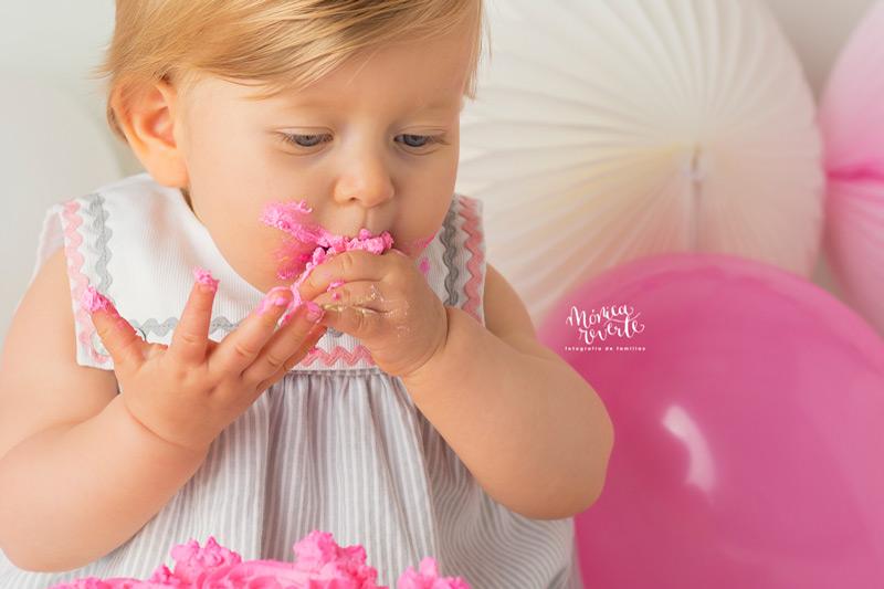 Sesión de fotos cumpleaños bebé 1 año en Madrid precio