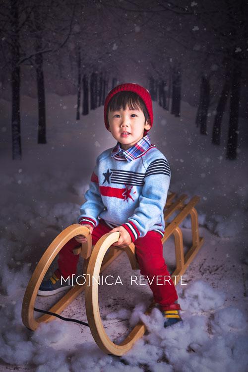 Sesión de fotos infantil de navidad en Madrid