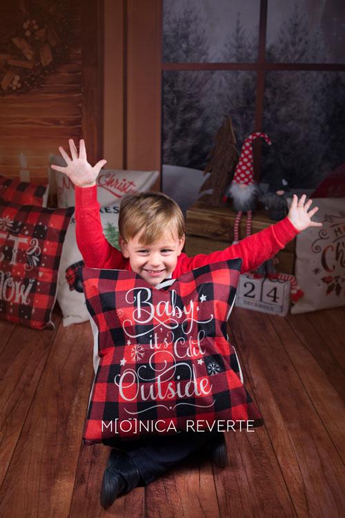Sesión de fotos de navidad con bebés en Madrid