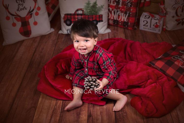 Sesión de fotos de navidad con niños en Madrid
